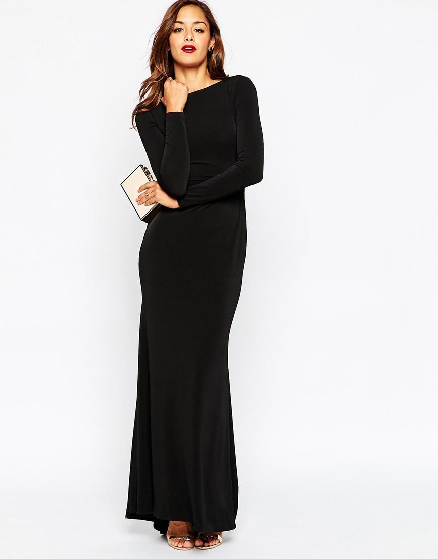 Siyah Uzun Kollu Abiye Modelleri 2018