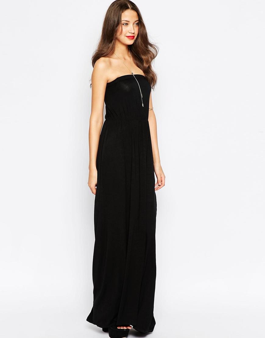 Siyah Straplez Uzun Abiye Modelleri 2020