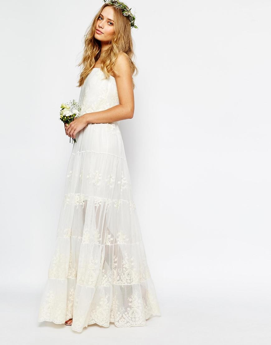 Son Moda Beyaz Uzun Abiye Modelleri 2018