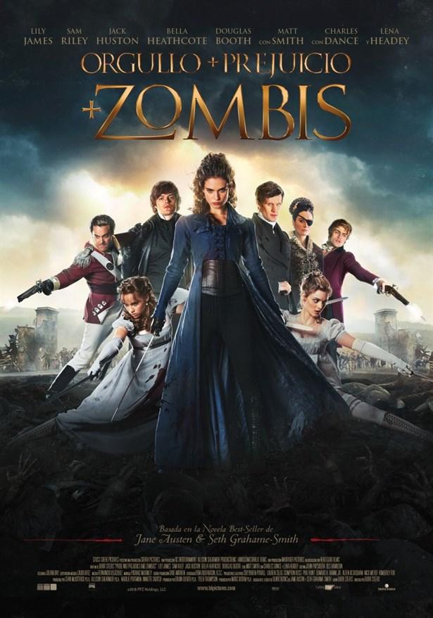 Aşk ve Gurur + Zombiler  Seth Grahame-Smith'in aynı ismi taşıyan, çok satan kitabından uyarlanan film, ünlü yazar Jane Austen'ın Aşk ve Gurur romanını, zombi konseptiyle ve pek çok fantastik öğe ile bütünleştiren bir yapım. 19. yüzyıl İngiltere'sinde geçen ünlü roman modern bir fantastik maceraya dönüşecek.  Başrollerini dövüş sanatları ve silah ustası Elizabeth Bennet rolünde Lily James ve üst sınıf önyargılarını temsil eden zombi avcısı Mr. Darcy rolünde Sam Riley'in üstlendiği yapımın diğer oyuncuları ise Bella Heathcote, Jack Huston ve Nuh: Büyük Tufan filmindeki rolüyle kendini hatırlanan genç oyuncu Douglas Booth. Filmin yönetmenliğini ve senaristliğini ise Burr Steers üstleniyor.