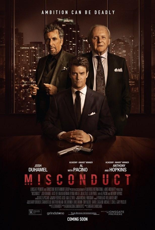 Hesaplaşma  Hırslı genç bir avukat, büyük bir ilaç firmasının güçlü ve acımasız yöneticisine karşı önemli bir davayı üstlendiği zaman, bu genç avukat çok geçmeden kendini şantaj ve yolsuzluğa karışmış bir davanın içinde bulacaktır. Zirveye giden yolda alınan riskler konu alınıyor.  Shintaro Shimosawa yönettiği filmin oyuncu kadrosunda Josh Duhamel, Anthony Hopkins, Al Pacino gibi güçlü isimler yer alıyor.