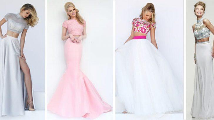 2018 İki Parça Abiye Modelleri Ünlü Markaların Şık Elbiseleri