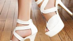 Beyaz Topuklu Gelin Ayakkabı Modelleri