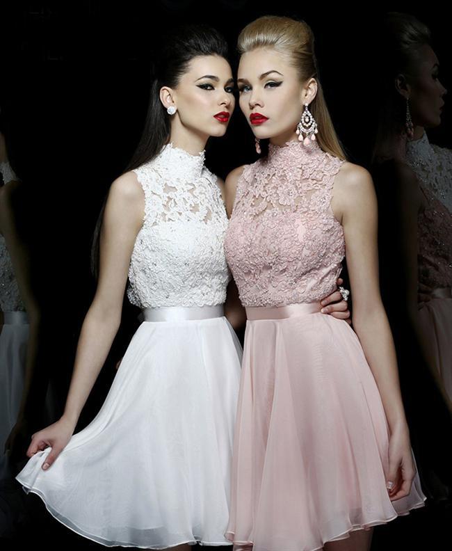 Birbirinde Şık Mezuniyet Elbisesi Modelleri