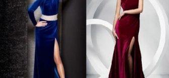 En Güzel Kadife Abiye Elbise Modelleri