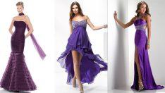 En Güzel Mor Abiye Elbise Modelleri