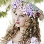 Kıvırcık Saç İçin Gelin Saçı Modelleri-Kıvırcık Saç Modelleri-Curly Hair