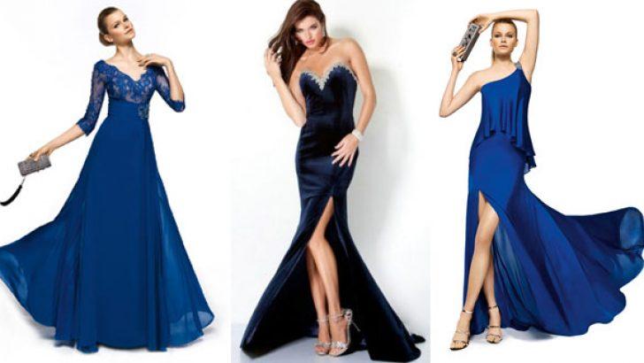 Lacivert Abiye Elbise Modelleri