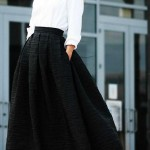 Uzun Etek Kombin Önerileri -Etek Modelleri