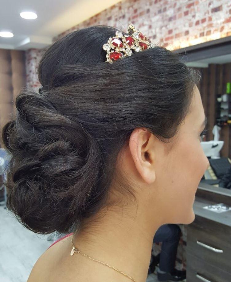 En Güzel Gelin Saç Modelleri - Gelin Başı Topuz Modelleri (7)