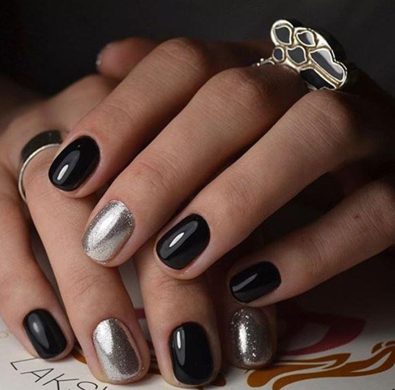 black nail art-nails-nailart-nail art-nail art designs-nail designs-oje desenleri (1)