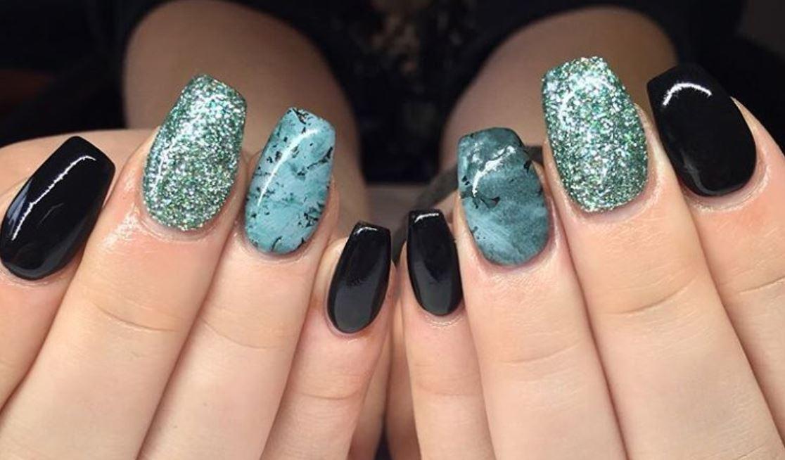 black nail art-nails-nailart-nail art-nail art designs-nail designs-oje desenleri (11)