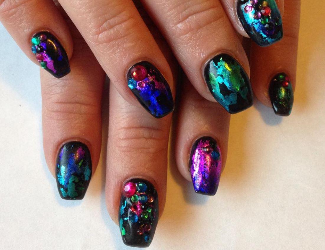 black nail art-nails-nailart-nail art-nail art designs-nail designs-oje desenleri (12)