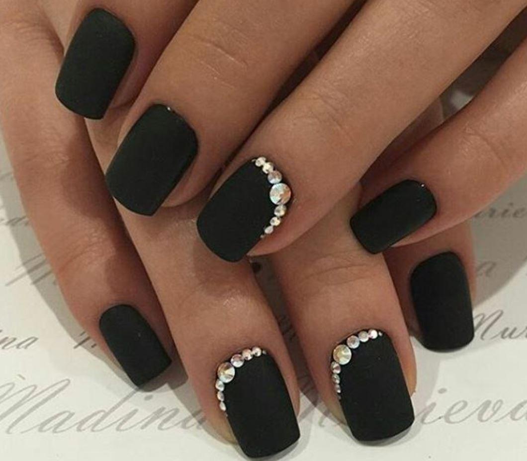 black nail art-nails-nailart-nail art-nail art designs-nail designs-oje desenleri (13)