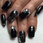 black nail art-nails-nailart-nail art-nail art designs-nail designs-oje desenleri (17)