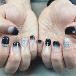 black nail art-nails-nailart-nail art-nail art designs-nail designs-oje desenleri (2)