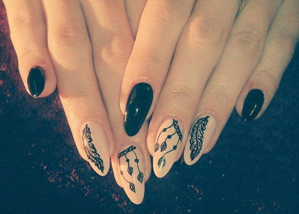 black nail art-nails-nailart-nail art-nail art designs-nail designs-oje desenleri (23)