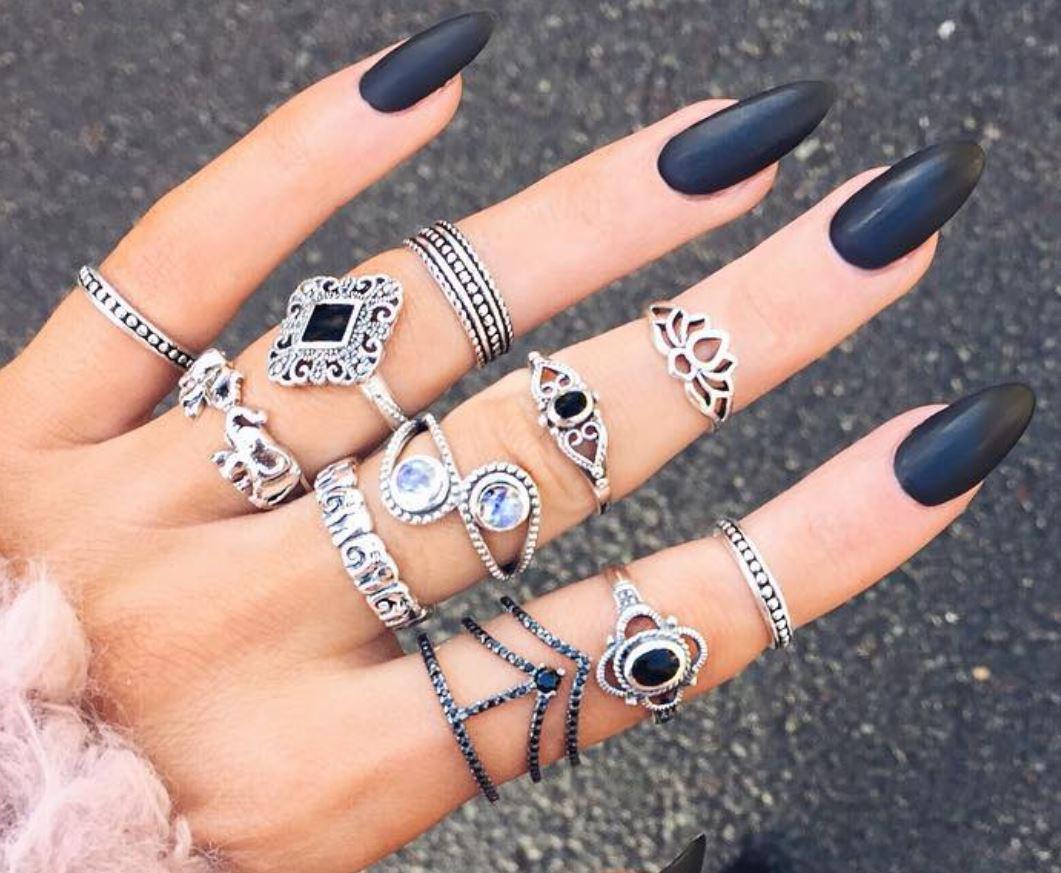 black nail art-nails-nailart-nail art-nail art designs-nail designs-oje desenleri (25)