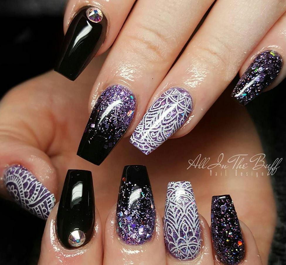 black nail art-nails-nailart-nail art-nail art designs-nail designs-oje desenleri (3)