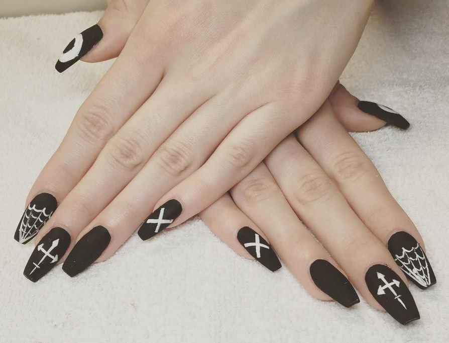 black nail art-nails-nailart-nail art-nail art designs-nail designs-oje desenleri (31)