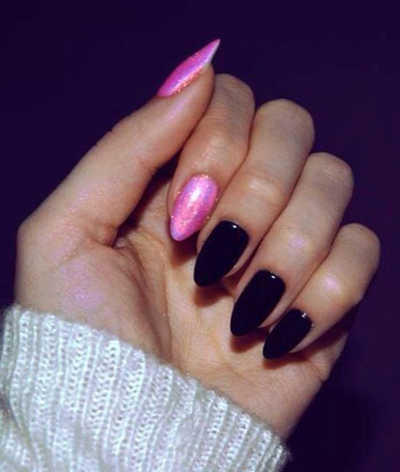 black nail art-nails-nailart-nail art-nail art designs-nail designs-oje desenleri (35)