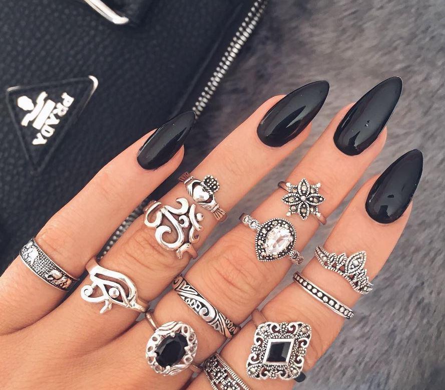 black nail art-nails-nailart-nail art-nail art designs-nail designs-oje desenleri (36)