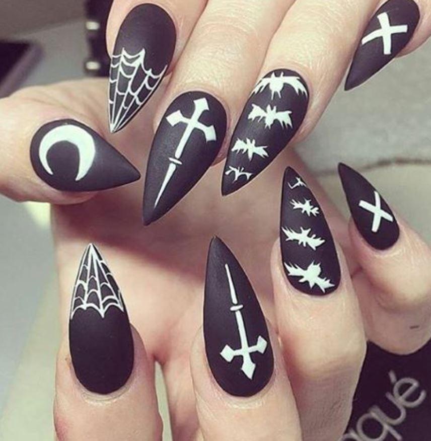 black nail art-nails-nailart-nail art-nail art designs-nail designs-oje desenleri (37)