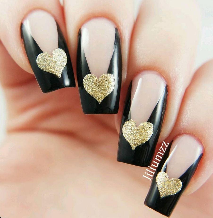 black nail art-nails-nailart-nail art-nail art designs-nail designs-oje desenleri (4)