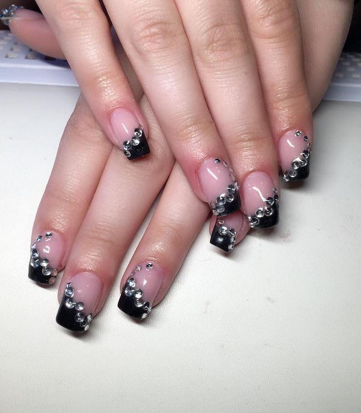 black nail art-nails-nailart-nail art-nail art designs-nail designs-oje desenleri (41)