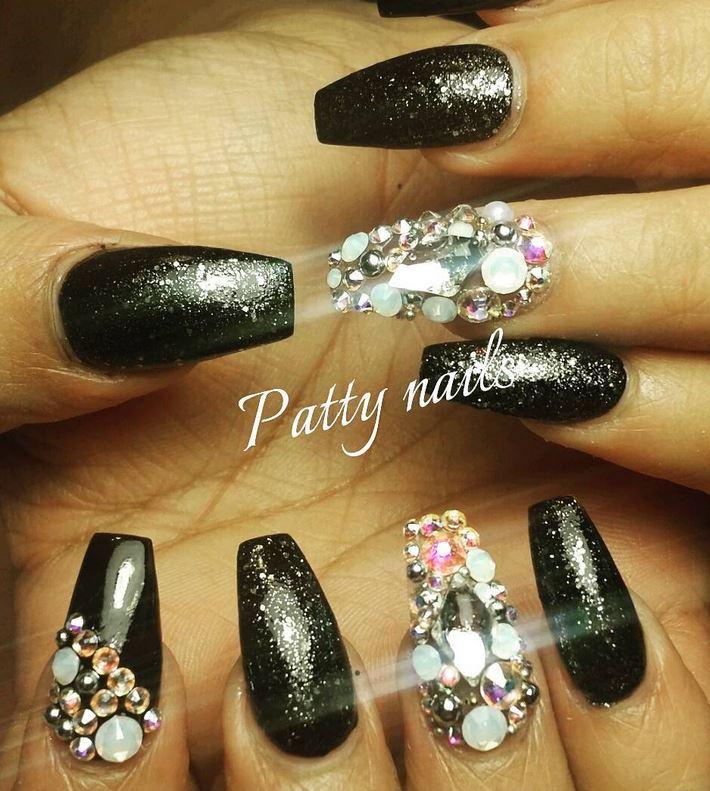 black nail art-nails-nailart-nail art-nail art designs-nail designs-oje desenleri (5)