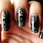 black nail art-nails-nailart-nail art-nail art designs-nail designs-oje desenleri (9)