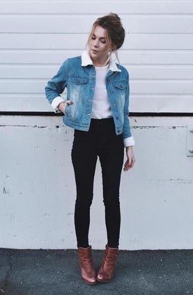 En Şık Bayan Kot Ceket Kombinleri Son Moda Kot Mont Modelleri