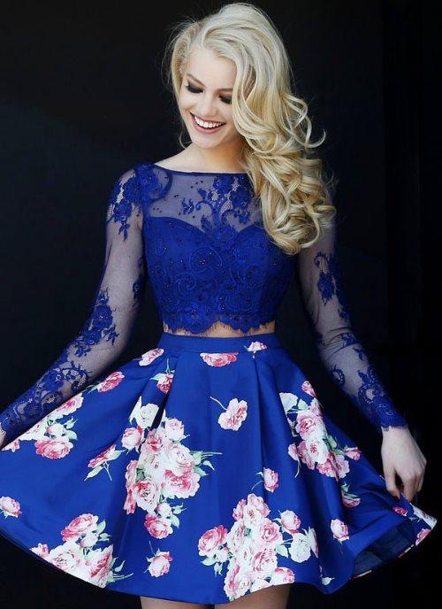 Abiye Elbise Modelleri: Tıpkı iki parça gibi bir trend olan karıştırma trendinde danteller, çiçeklerle; incecik tüller kalın taftalarla karıştırılıyor. Sonuç mükemmel.