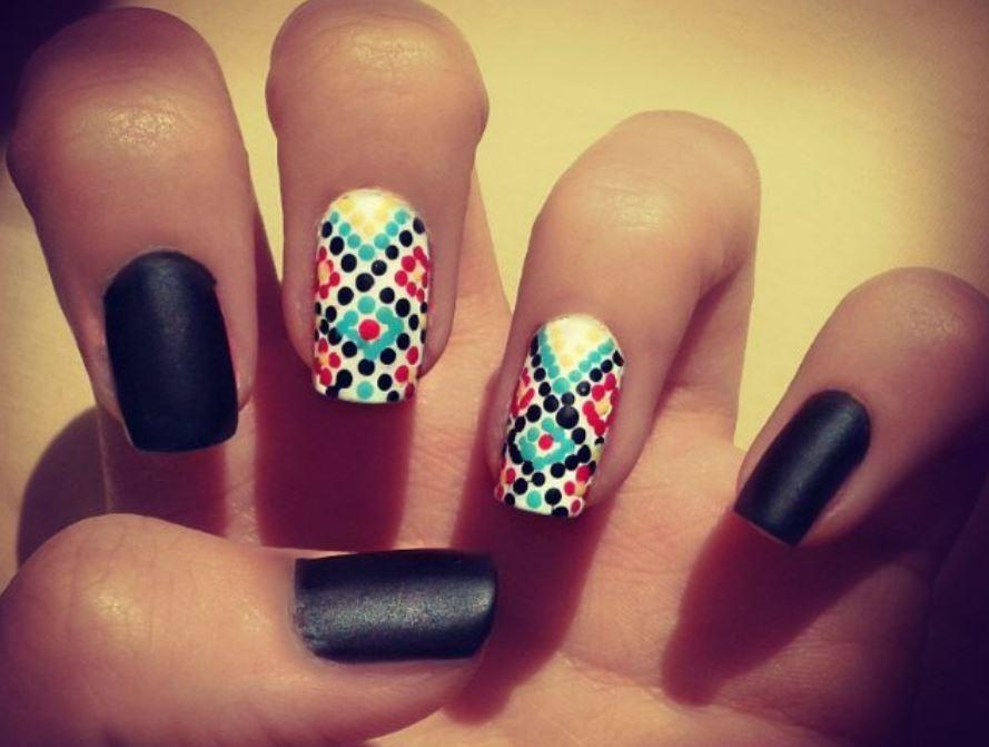 red nail art-white nail art-nail art-nail art designs-nailart-nails (19)