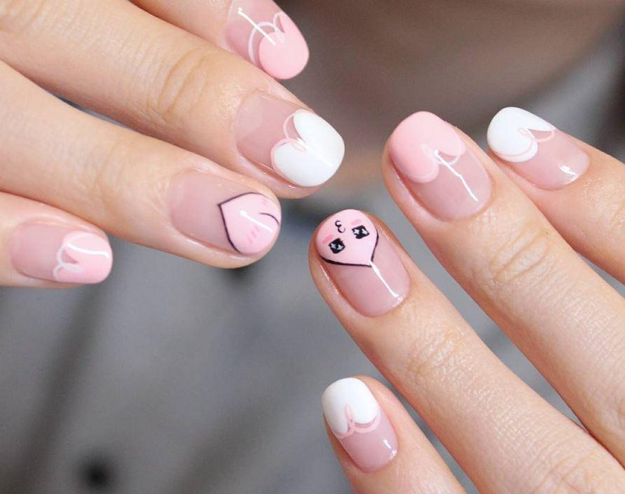 red nail art-white nail art-nail art-nail art designs-nailart-nails (35)