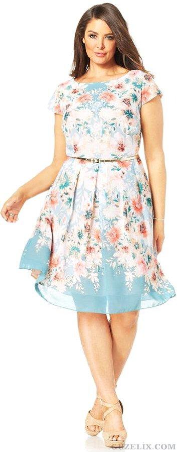 2016  Yazlık Büyük Beden Elbise Modelleri (3)
