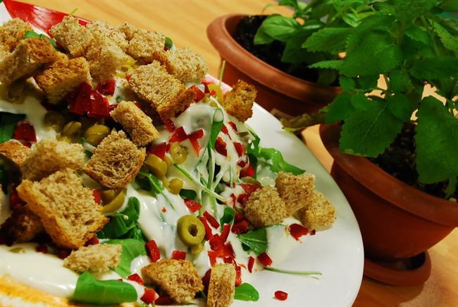 Lezzetli Diyet Yemekler: EKMEKLİ KIŞ SALATASI TARİFİ