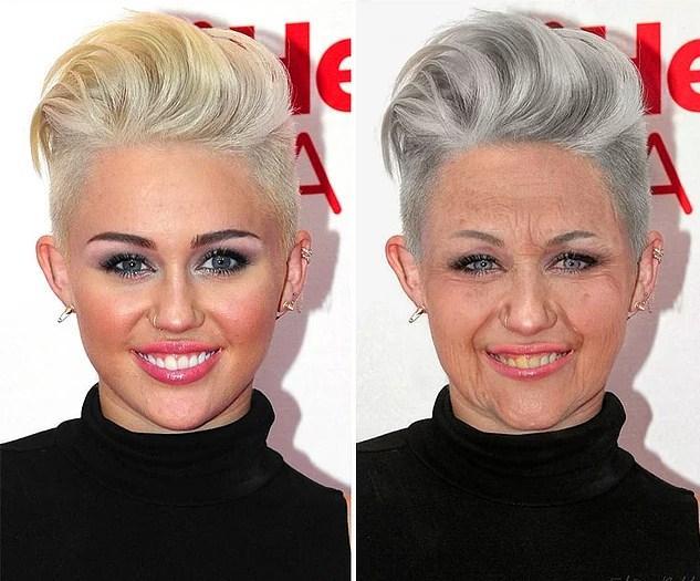 Ünlülerin Yaşlanmış Halleri: Miley Cyrus
