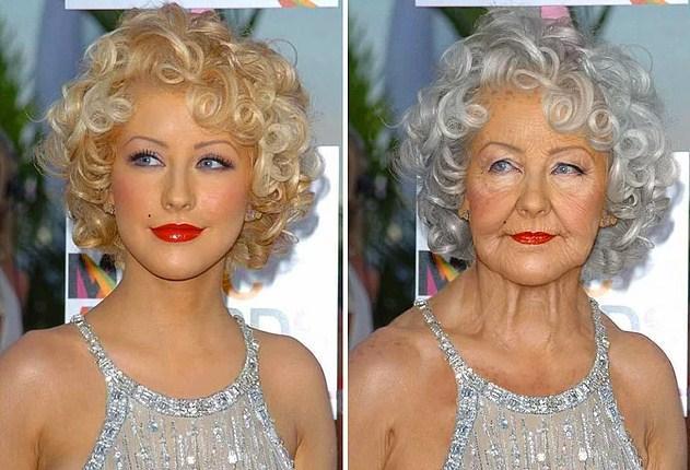 Ünlülerin Yaşlanmış Halleri: Christina Aguilera
