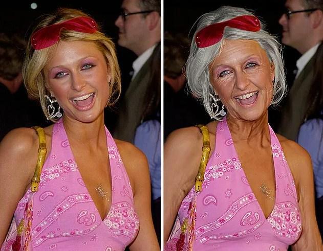 Ünlülerin Yaşlanmış Halleri:  Paris Hilton