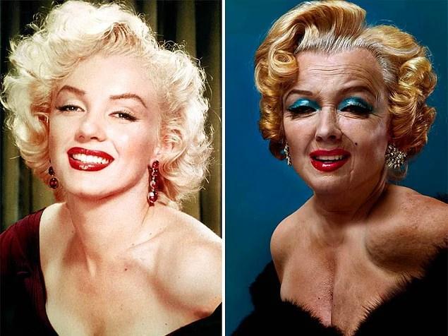 Ünlülerin Yaşlanmış Halleri: Marilyn Monroe