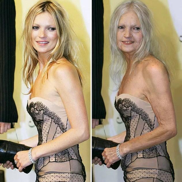Ünlülerin Yaşlanmış Halleri: Kate Moss