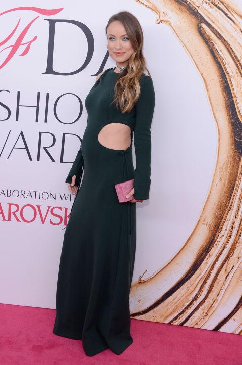 2016 CFDA Moda ödülleri Kırmızı Halı Elbiseleri; OLIVIA WILDE