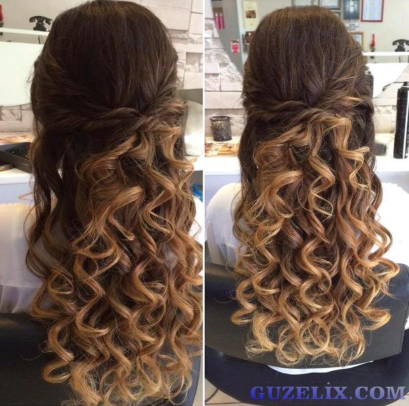 Kıvırcı Saç Modelleri - Ombre Saç - Curly Hairstyles