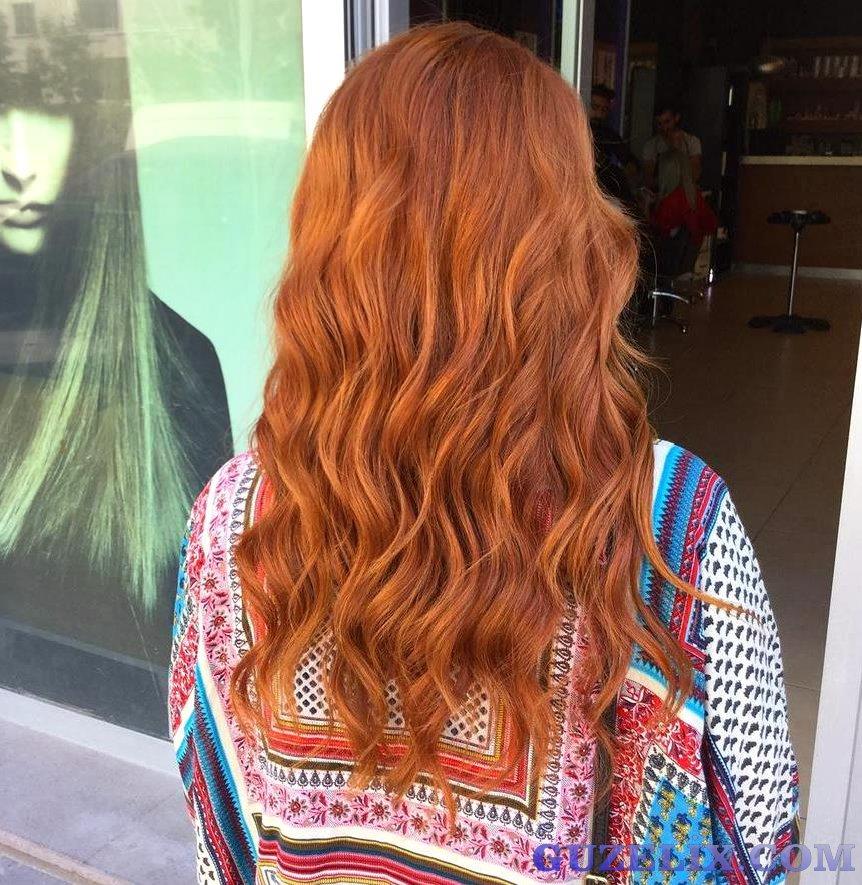 Kızıl Kıvırcık Saç Modelleri - Red Curly Hair Color - Hairstyles