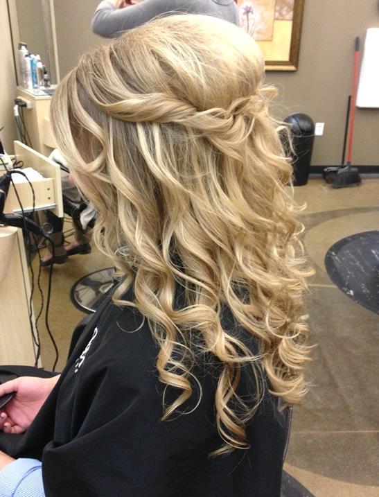 Uzun Kıvırcık Saç Modelleri - Prom-Hairstyles-for-Long-Hair-Cute-Simple-Hairstyle