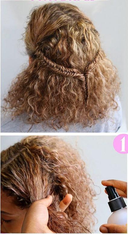 Kıvırcık Saçlı Olanlar İçin Örgü