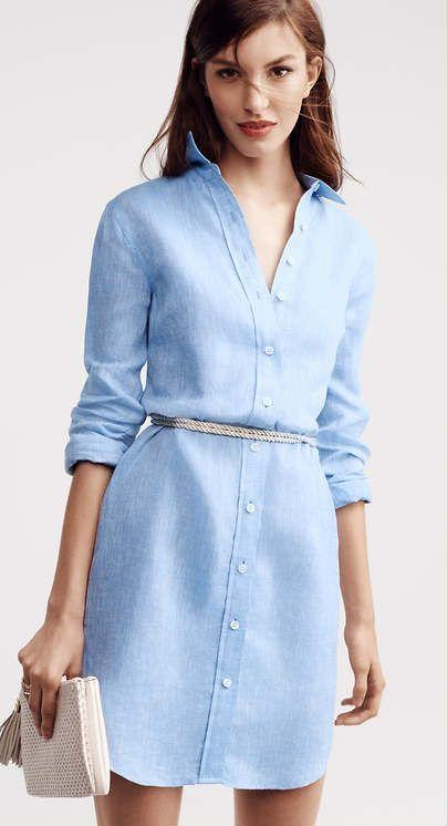 En Şık Gömlek Elbise Kombin Fikirleri