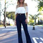En Şık Omuz Açık Bluz ve Elbise Modelleri - Street-Off-The-Shoulder-Top-Dress