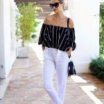 En Şık Omuz Açık Bluz ve Elbise Modelleri - Stunning-Off-The-Shoulder-Top-Dress